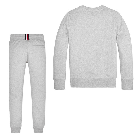 Tommy Hilfiger Kids Boys Grey Essential Crew Tracksuit main image