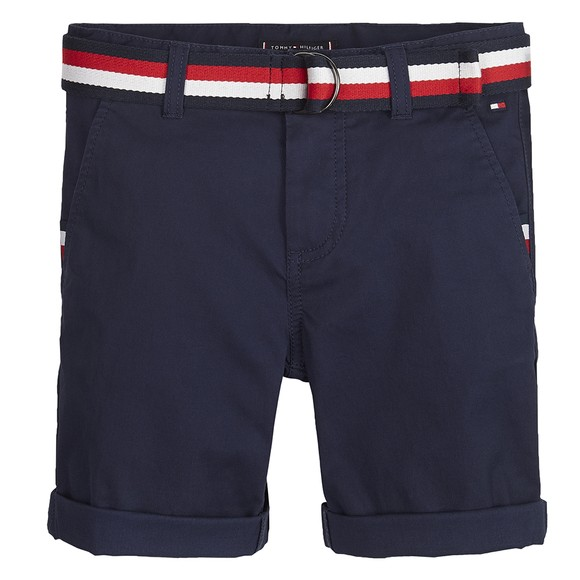 Tommy Hilfiger Kids Boys Blue Essential Belted Chino Short main image