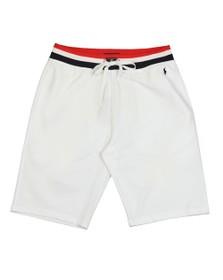 Polo Ralph Lauren Mens White Tri Colour Waist Jog Short