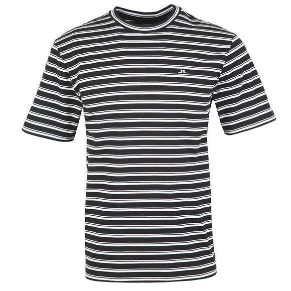 J.Lindeberg Mens White Charles Plain Stripe T-Shirt