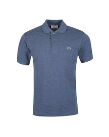 Lacoste Mens Blue L1264 Plain Polo Shirt
