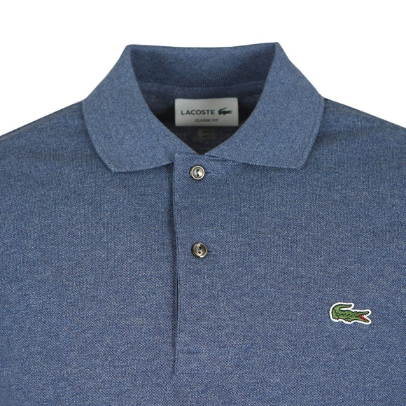 Lacoste Mens Blue L1264 Plain Polo Shirt main image