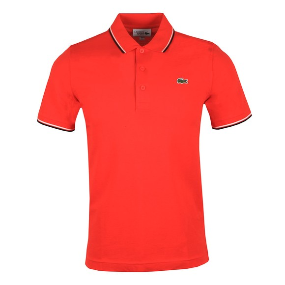 Lacoste Sport Mens Red Tipped Polo Shirt