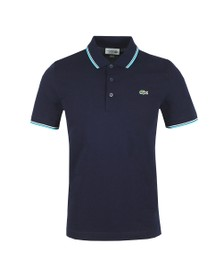 Lacoste Sport Mens Blue Tipped Polo Shirt