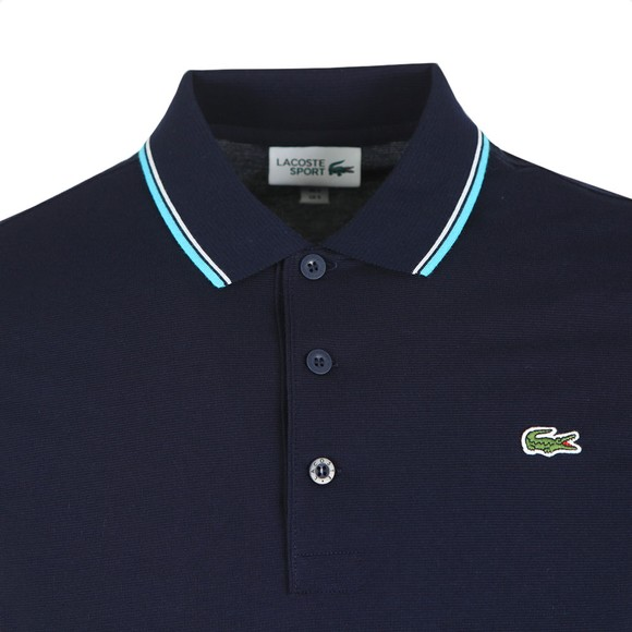 Lacoste Sport Mens Blue Tipped Polo Shirt main image