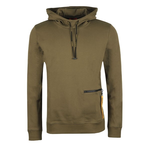 HUGO Mens Green Deauty Overhead Hoody