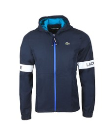 Lacoste Sport Mens Blue Hooded Jacket