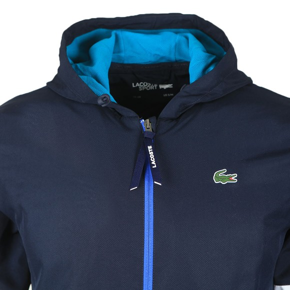 Lacoste Sport Mens Blue Hooded Jacket main image