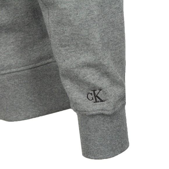 Calvin Klein Jeans Mens Grey Logo Crew Sweatshirt
