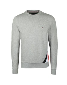 Tommy Hilfiger Mens Grey Diagonal Sweatshirt