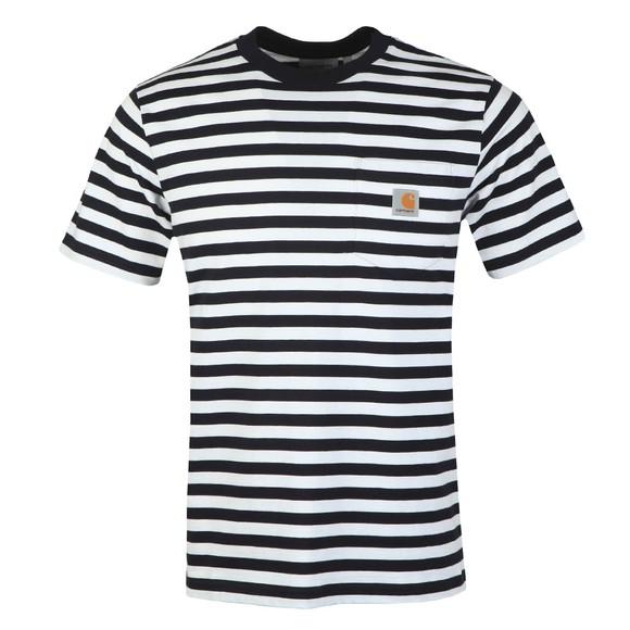 Carhartt WIP Mens White Scotty Short Sleeve Pocket T-Shirt main image