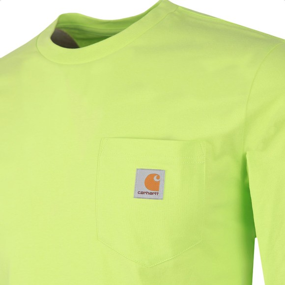 Carhartt WIP Mens Green Long Sleeve Pocket T Shirt
