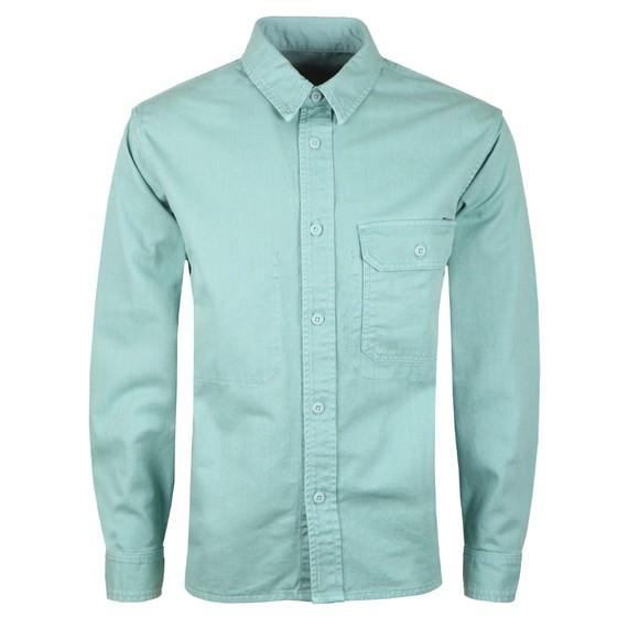 Carhartt WIP Mens Green Long Sleeve Reno Shirt