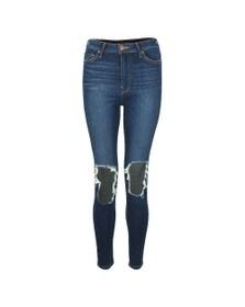 True Religion Womens Blue Caia Ultra High Rise Super Skinny Jean