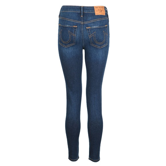 True Religion Womens Blue Caia Ultra High Rise Super Skinny Jean main image