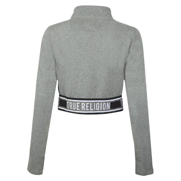 True Religion Womens Grey Branded Taping Full Zip Sweatshirt main image