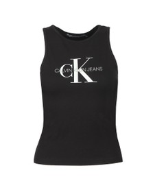Calvin Klein Jeans Womens Black Monogram Stretch Sports Vest
