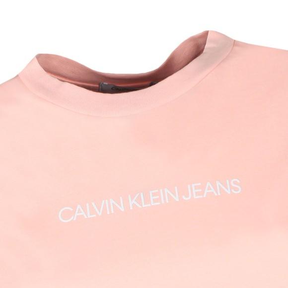 Calvin Klein Jeans Womens Pink Shrunken Institution T-Shirt main image