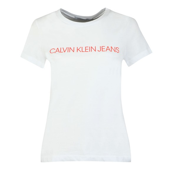 Calvin Klein Jeans Womens White Institutional Logo T-Shirt main image