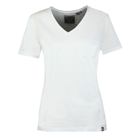 Superdry Womens White Essential V-Neck T-shirt main image