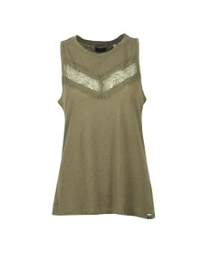 Superdry Womens Green Chevron Lace Vest