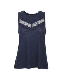 Superdry Womens Blue Chevron Lace Vest