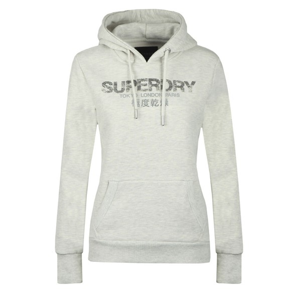 Superdry Womens Off-White City Nights Snake Entry Hoody