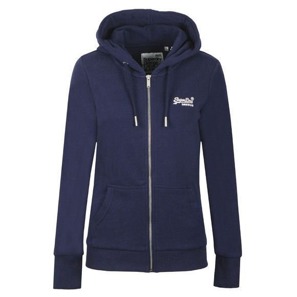 Superdry Womens Blue OL Ziphood UB Hoody