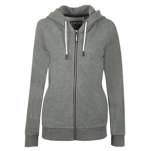 Superdry Womens Grey OL Elite Zip Hoody