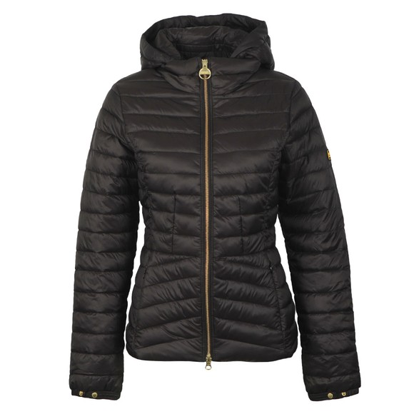 Barbour International Womens Black Score Quilted Jacket