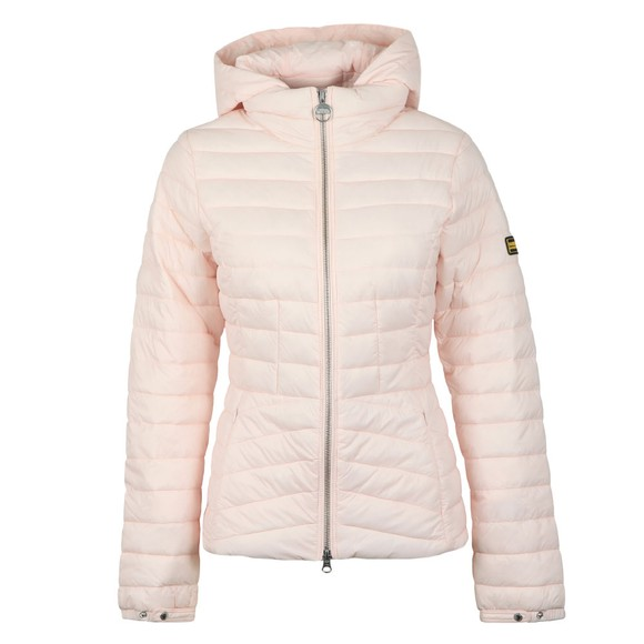 Barbour International Womens Pink Score Quilted Jacket