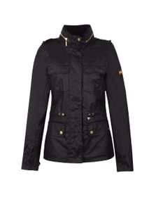 Barbour International Womens Black Baton Wax Jacket
