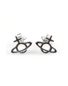 Vivienne Westwood Womens Silver Ornella Bas Relief Earring