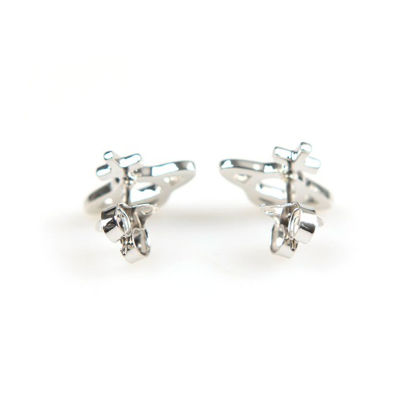 Vivienne Westwood Womens Silver/White Ornella Bas Relief Earring main image