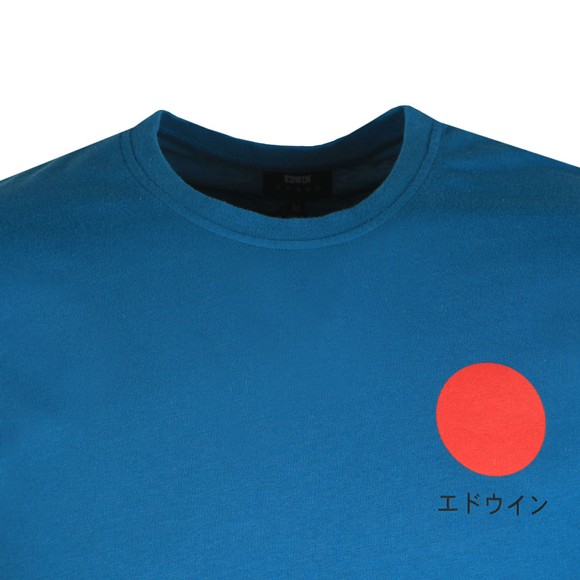 Edwin Mens Blue Japanese Sun T Shirt main image