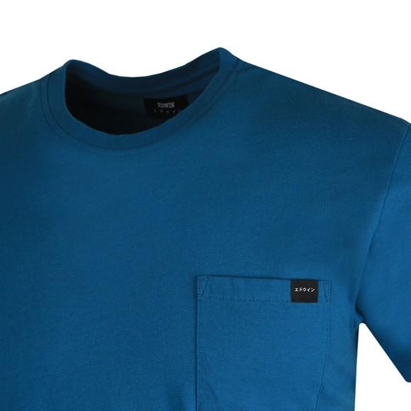 Edwin Mens Blue Pocket T Shirt main image