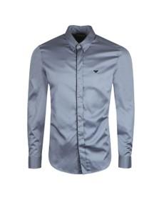 Emporio Armani Mens Blue Buttoned Lining Shirt