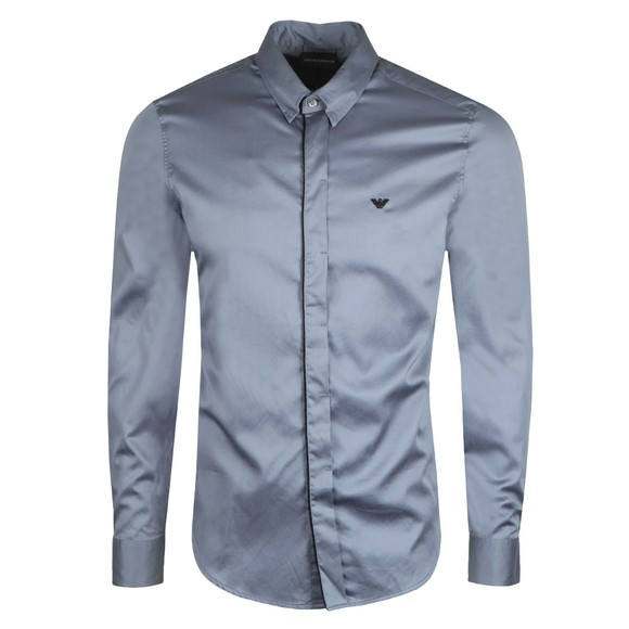 Emporio Armani Mens Blue Buttoned Lining Shirt main image