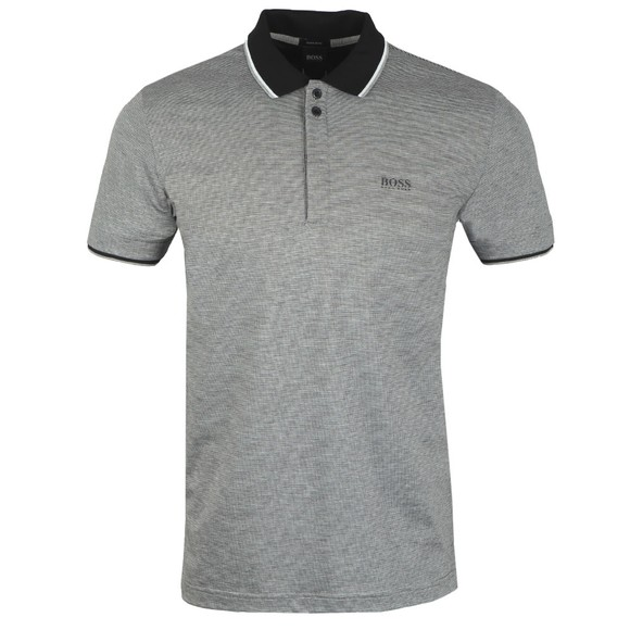 BOSS Mens Black Athleisure Paddy 2 Polo Shirt
