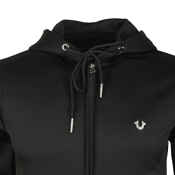 True Religion Mens Black Full Zip Tech Hoody