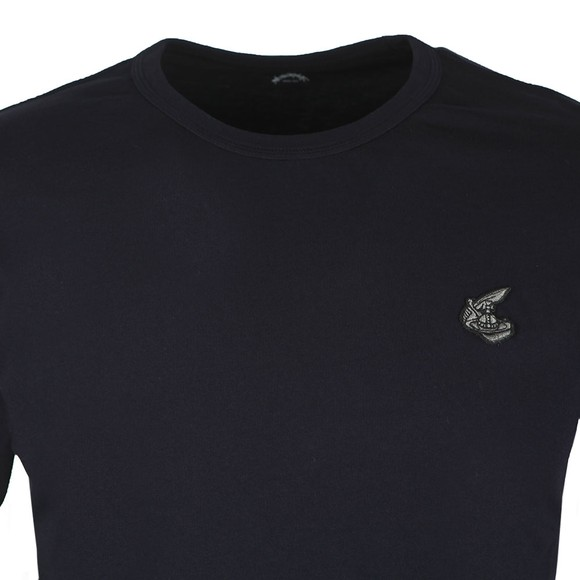 Vivienne Westwood Anglomania Mens Blue New Classic Badge Logo T Shirt main image