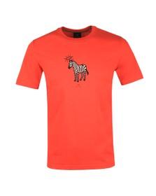 PS Paul Smith Mens Orange Halo Zebra T-Shirt