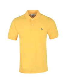 Lacoste Mens Yellow L1212 Plain Polo Shirt