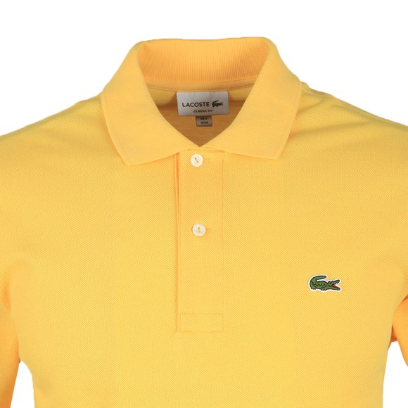 Lacoste Mens Yellow L1212 Plain Polo Shirt main image