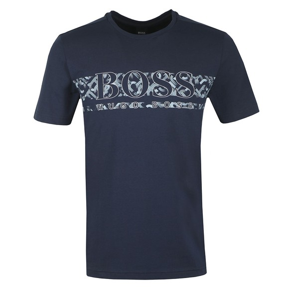 BOSS Mens Blue Athleisure Tee 14