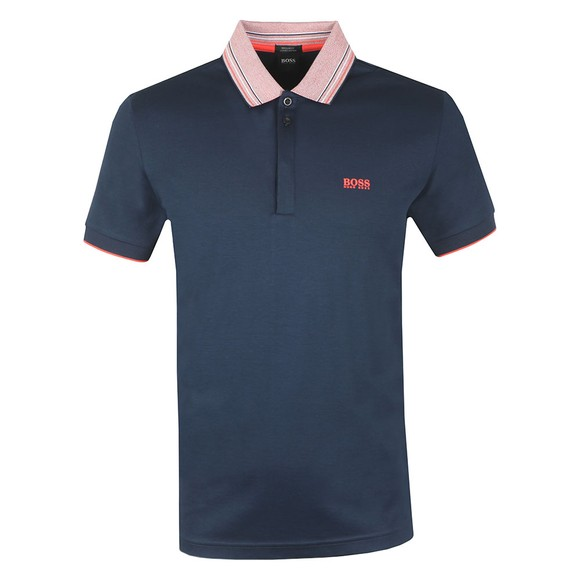 BOSS Mens Blue Athleisure Paddy 1 Polo Shirt