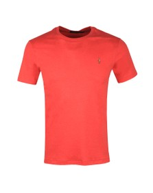 Polo Ralph Lauren Mens Red Custom Slim Fit Pima Cotton T Shirt