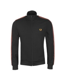 Fred Perry Mens Black Taped Sleeve Track Jacket