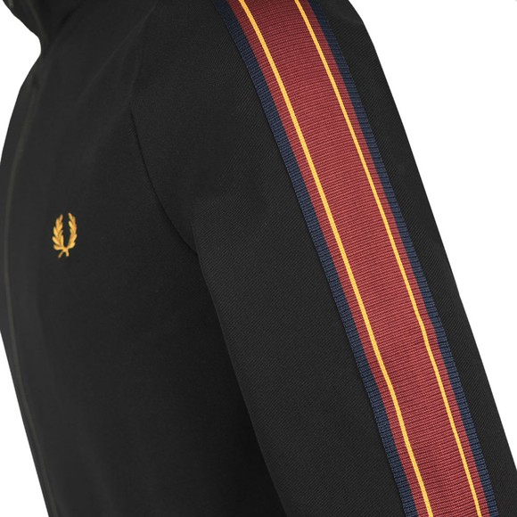 Fred Perry Mens Black Taped Sleeve Track Jacket main image