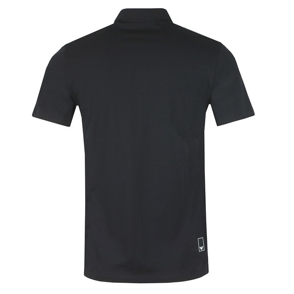 Emporio Armani Mens Black Small Logo Pima Polo Shirt main image